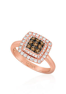 Le Vian Chocolate Diamond® and Vanilla Diamond™ Ring in 14k Strawberry Gold®