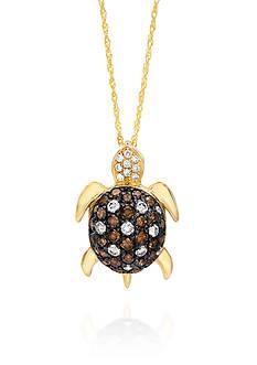 Le Vian Chocolate Diamond® and Vanilla Diamond® Turtle Pendant in 14k Honey Gold™
