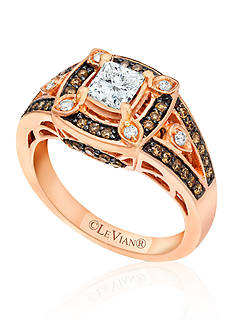 Le Vian Vanilla Diamond® and Chocolate Diamond® Ring in 14k Strawberry Gold®