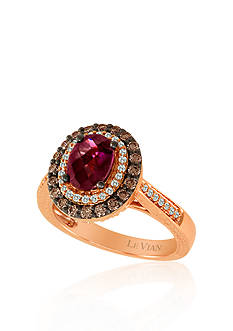 Le Vian 14k Strawberry Gold® Raspberry Rhodolite®, Chocolate Diamond® and Vanilla Diamond™ Ring