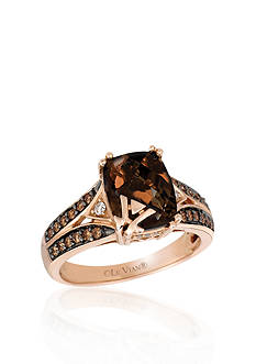 Le Vian 14k Strawberry Gold® Chocolate Quartz®, Chocolate Diamond® and Vanilla Diamond™ Ring