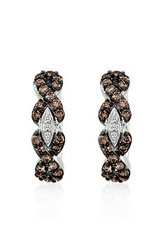Le Vian Chocolate Diamond® and Vanilla Diamond® Earrings in 14k Vanilla Gold®