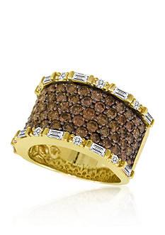 Le Vian Chocolate Diamond and Vanilla Diamond Band Ring in 14k Honey Gold