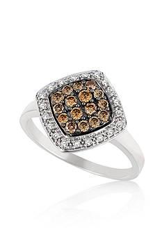 Le Vian Vanilla Diamond and Chocolate Diamond Ring in 14k Vanilla Gold