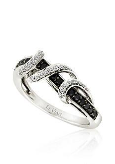 Le Vian Vanilla Diamond® and Blackberry Diamond® Ring in 14k Vanilla Gold®