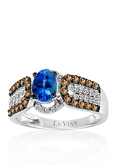 Le Vian® 14k Vanilla Gold® Blueberry Tanzanite™, Chocolate Diamond®, and Vanilla Diamond® Band