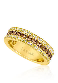 Le Vian Chocolate Diamond® and Vanilla Diamond® Band in 14k Honey Gold™