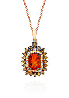 Le Vian 14k Strawberry Gold® Neon Tangerine Fire Opal®, Chocolate Diamond®, and Vanilla Diamond® Pendant