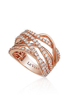 Le Vian Vanilla Diamond® Band in 14k Strawberry Gold®