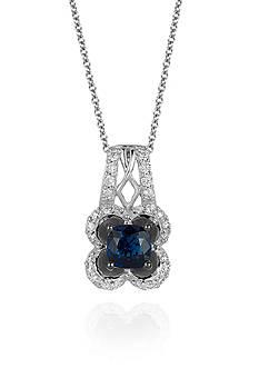 Le Vian Blueberry Sapphire™ and Vanilla Diamond® Pendant in 14k Vanilla Gold®