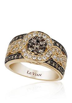Le Vian Chocolate Diamond® and Vanilla Diamond® Ring 14k Honey Gold™