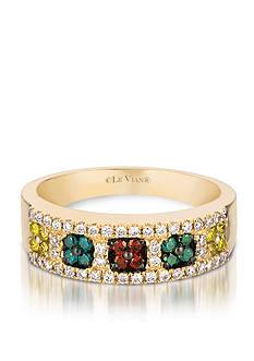 Le Vian Mixberry Diamonds® and Vanilla Diamond® Band in 14k Honey Gold™