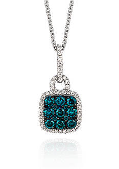 Le Vian Blueberry Diamond® and Vanilla Diamond® Pendant in 14k Vanilla Gold®