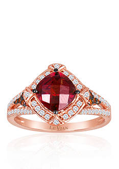 Le Vian® 14k Strawberry Gold® Raspberry Rhodolite®, Vanilla Diamond® and Red Diamond Ring