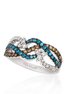 Le Vian Vanilla Diamond®, Chocolate Diamond® and Iced Blueberry Diamond® Ring in 14k Vanilla Gold®