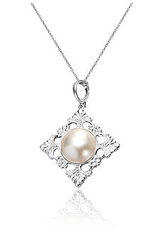 Belk & Co. Sterling Silver Mabe Pearl Enhancer Pendant