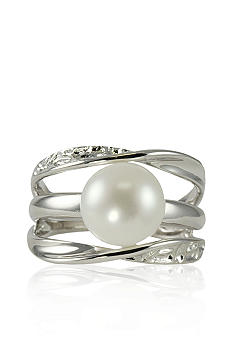 Belk & Co. Sterling Silver Freshwater Pearl Multi Row Ring