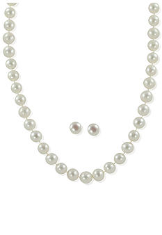 Belk & Co. Sterling Silver Freshwater Pearl 2-Piece Box Set