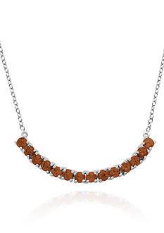 Belk & Co. Sterling Silver Garnet Necklace