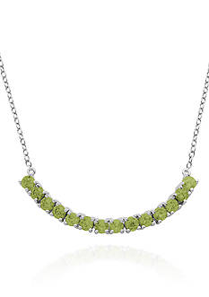 Belk & Co. Sterling Silver Peridot Necklace