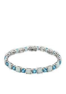 Belk & Co. Created Opal and Blue Topaz Bracelet in Sterling Silver