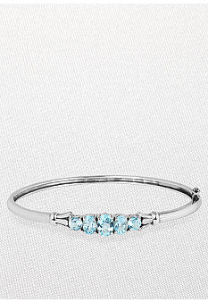 Belk & Co. Sterling Silver Blue Topaz Bangle
