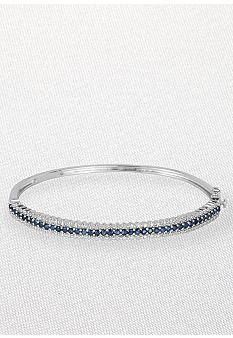 Belk & Co. Sterling Silver Sapphire and Diamond Bangle