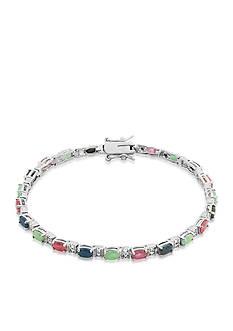 Belk & Co. Sterling Silver Multi Gemstone and Diamond Bracelet