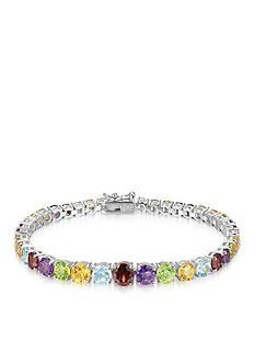Belk & Co. Sterling Silver Multi Gemstone Tennis Bracelet