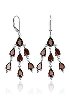 Belk & Co. Sterling Silver Garnet Dangle Chandelier Earring