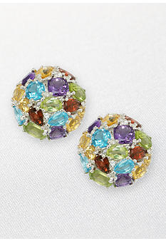 Belk & Co. Sterling Silver Multicolored Earrings