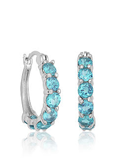 Belk & Co. Sterling Silver Blue Topaz Hoop Earrings