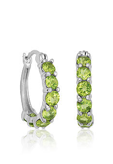Belk & Co. Sterling Silver Peridot Hoop Earrings