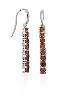 Belk & Co. Sterling Silver Garnet Earrings