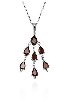 Belk & Co. Sterling Silver Garnet Dangle Chandelier Pendant