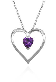 Belk & Co. Sterling Silver Amethyst Heart Pendant