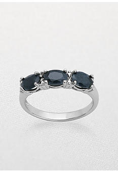 Belk & Co. Sterling Silver Black Sapphire Ring