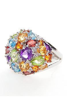 Belk & Co. Sterling Silver Multi Color Ring