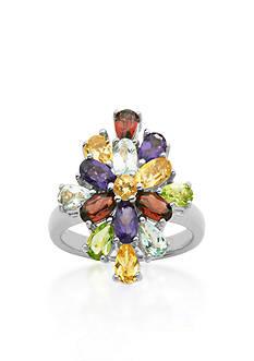 Belk & Co. Sterling Silver Multi Color Gemstone Ring