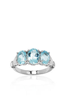 Belk & Co. Sterling Silver 3-Stone Blue Topaz Ring