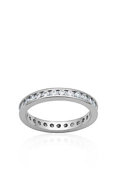 Belk & Co. Platinum Plated Sterling Silver Cubic Zirconia Eternity Band