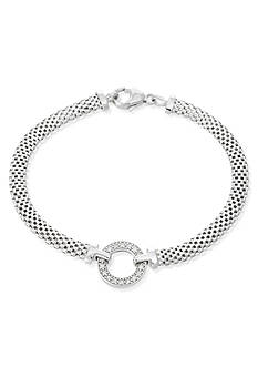 Belk & Co. Diamond Circle Mesh Bracelet in Sterling Silver