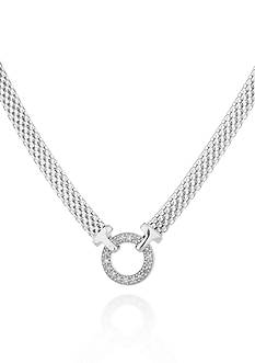 Belk & Co. Diamond Circle Mesh Necklace in Sterling Silver
