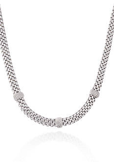 Belk & Co. Diamond Necklace in Sterling Silver