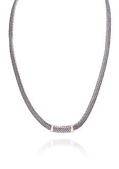 Belk & Co. Diamond Necklace in Sterling Silver with 14k Yellow Gold