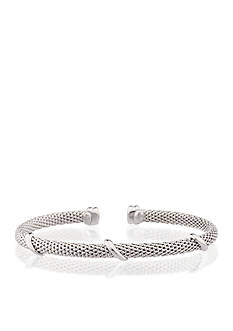 Belk & Co. Sterling Silver Mesh Bangle