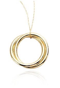 Belk & Co. 14k Yellow Gold Double Circle Pendant