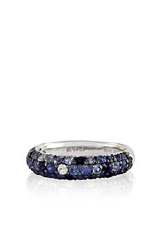 Effy Sterling Silver Blue Sapphire Ring