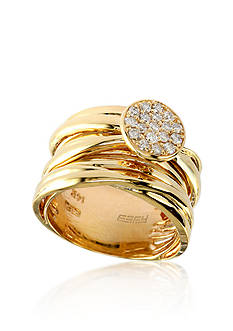 Effy Diamond Disc Band in 14k Yellow Gold