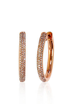Effy Diamond Hoop Earrings in 14k Rose Gold